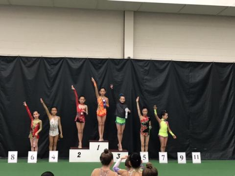 Level 5 Twins Heidi and Heather -1 st and 2nd places, Kaite-4 th!!