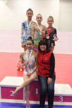 Level 8 with Coach Emiliya after Awards.