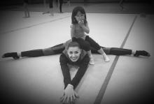 Future Star Stella with her favorite coach Olga!