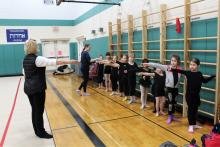 Cuties of level 3, first steps in Ballet classes