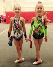 2017 Michigan Valentine Invitational, level 5, Sonia Popkov and Anna Cumuta after Awards!
